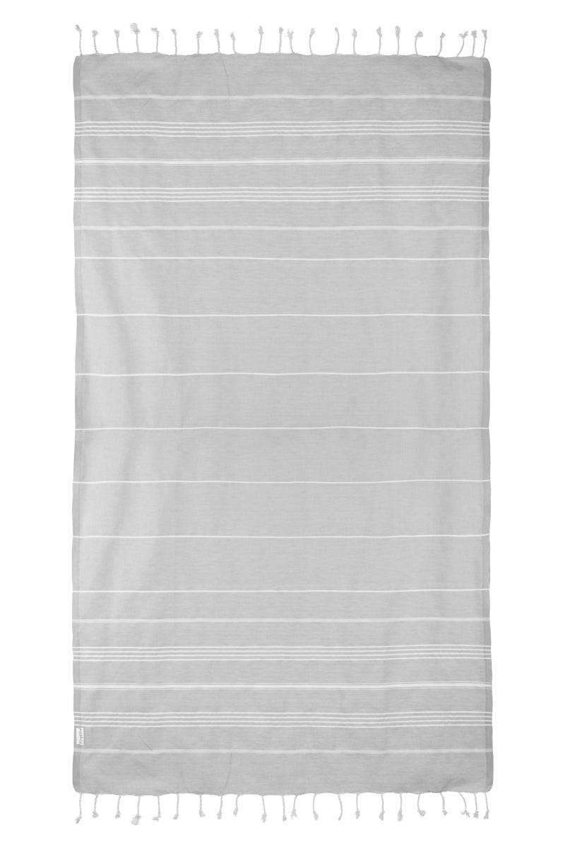 Basic Gray Turkish Towel Image 5