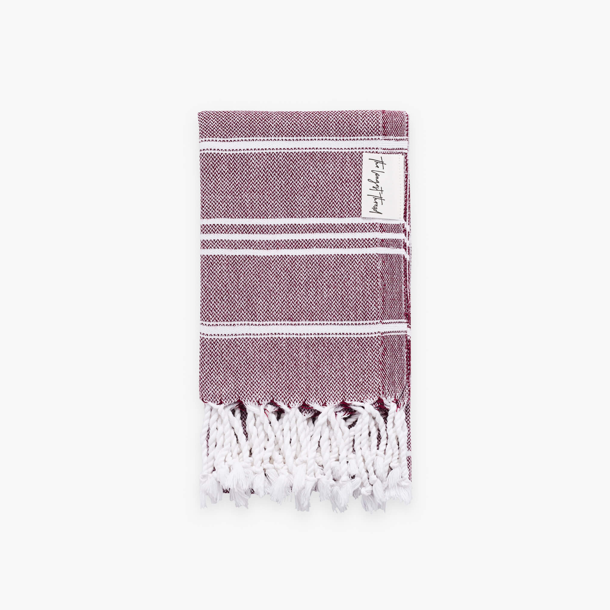 Basic Burgundy Turkish Hand Towel Image 1
