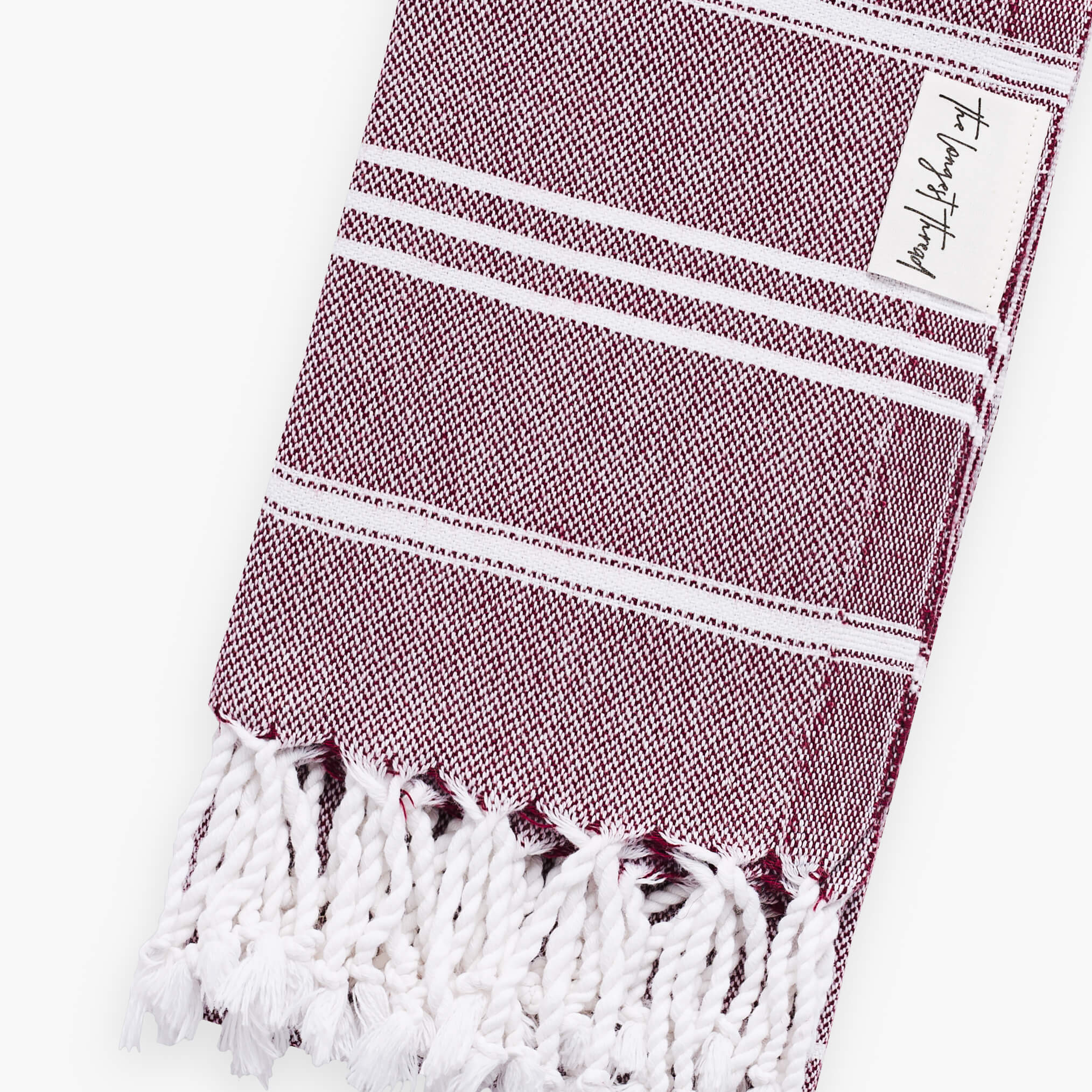 Basic Burgundy Turkish Hand Towel Image 2