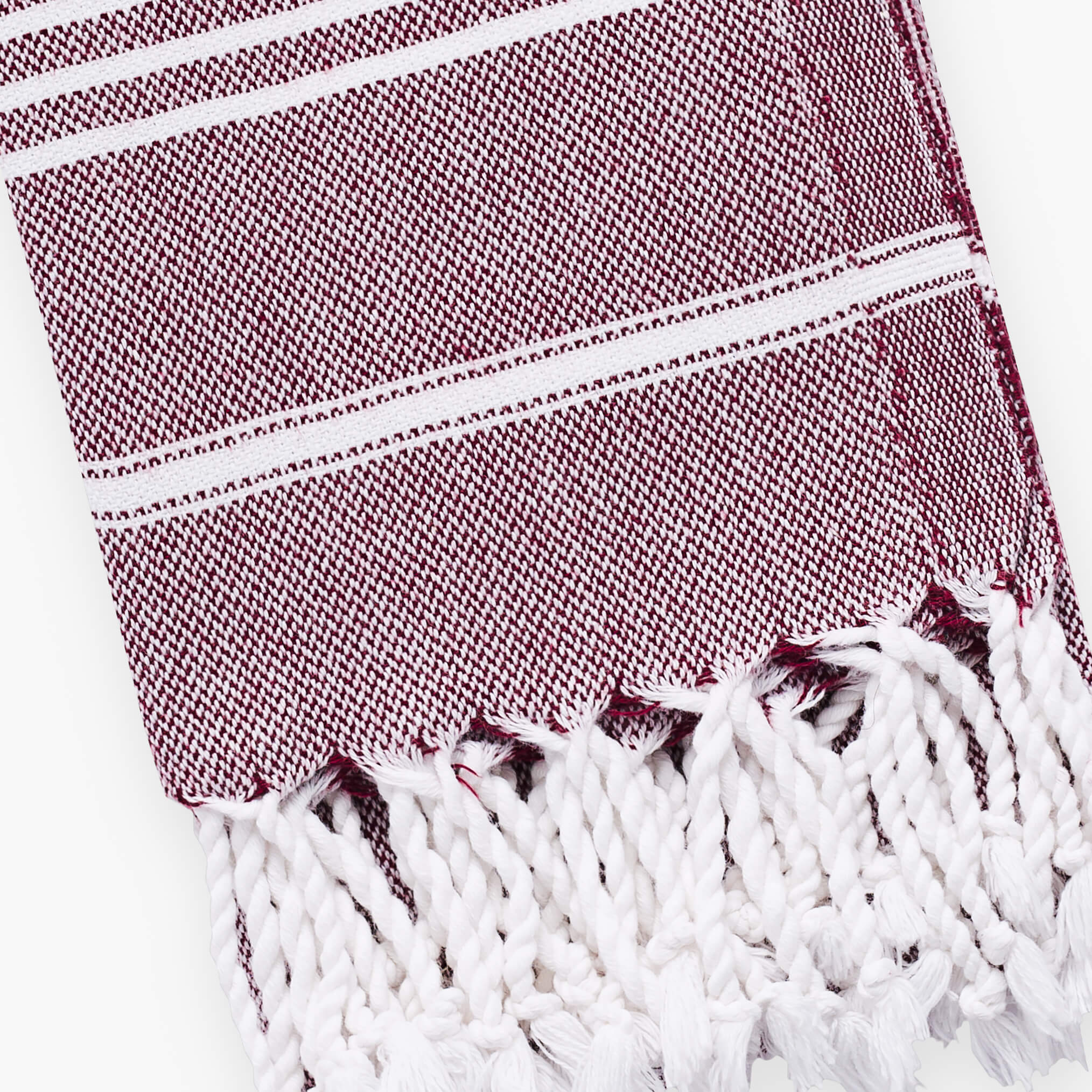 Basic Burgundy Turkish Hand Towel Image 3