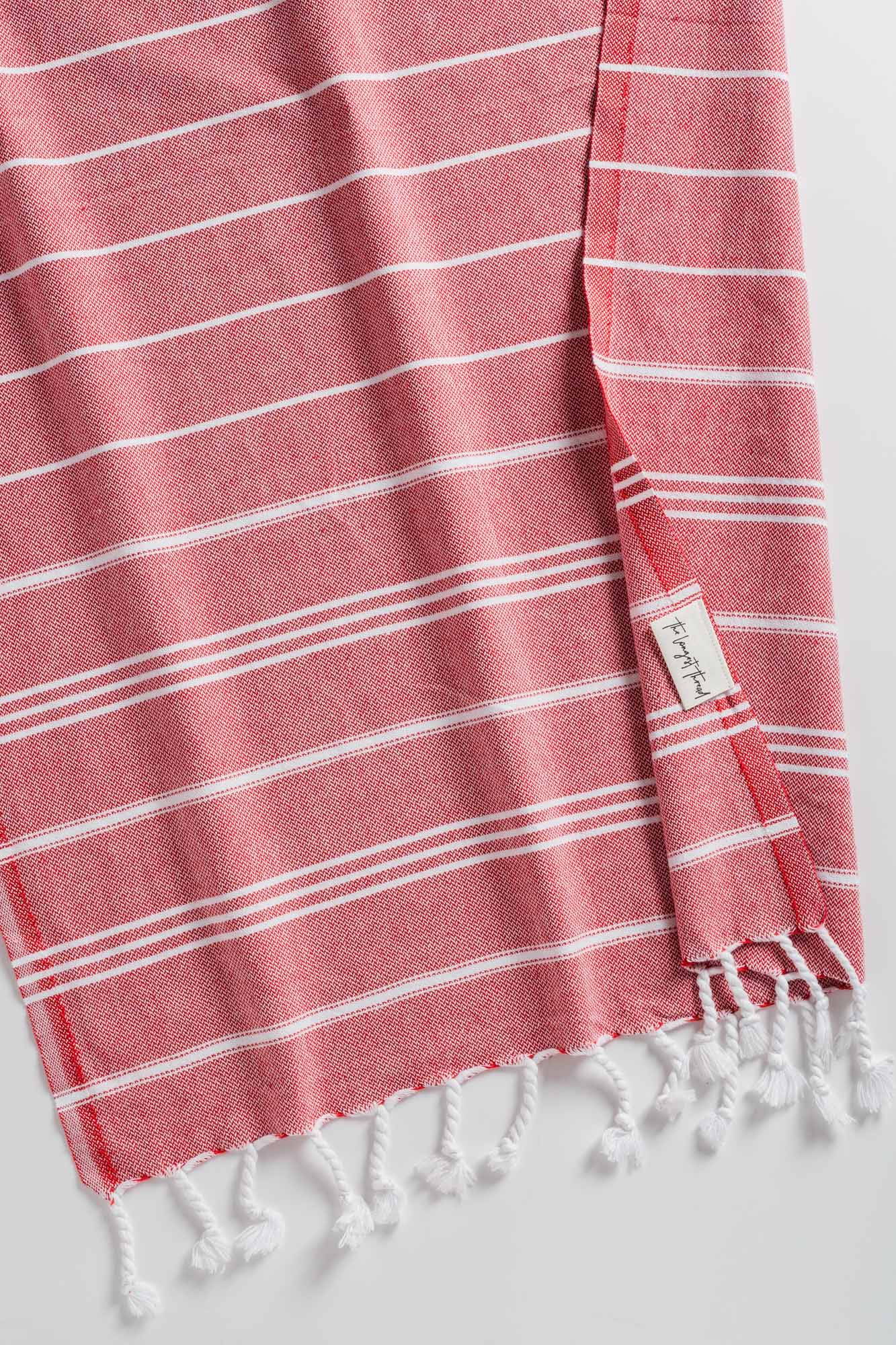 Basic XS Red Turkish Hand Towel
