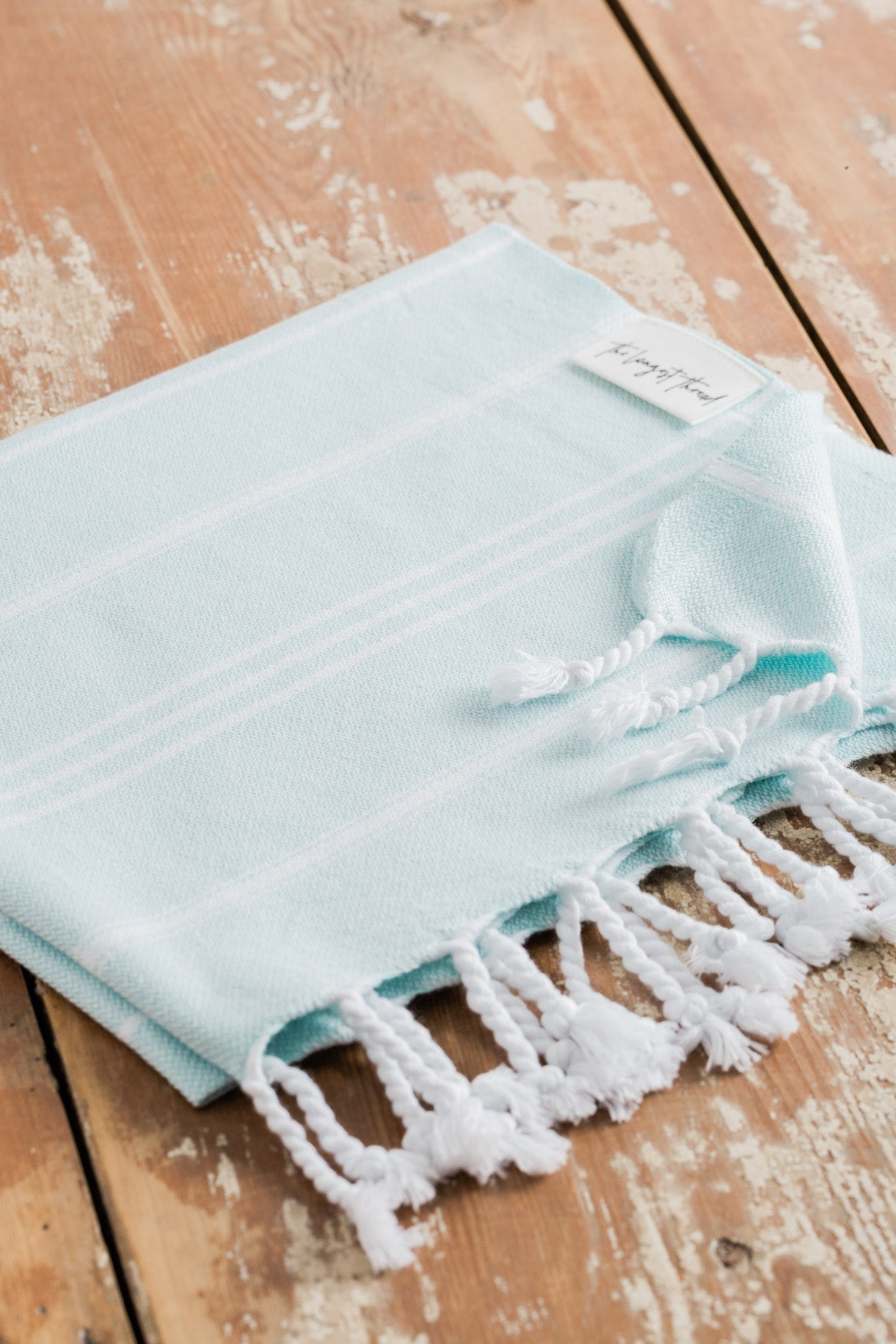 Basic Mint Turkish Hand Towel Image 2