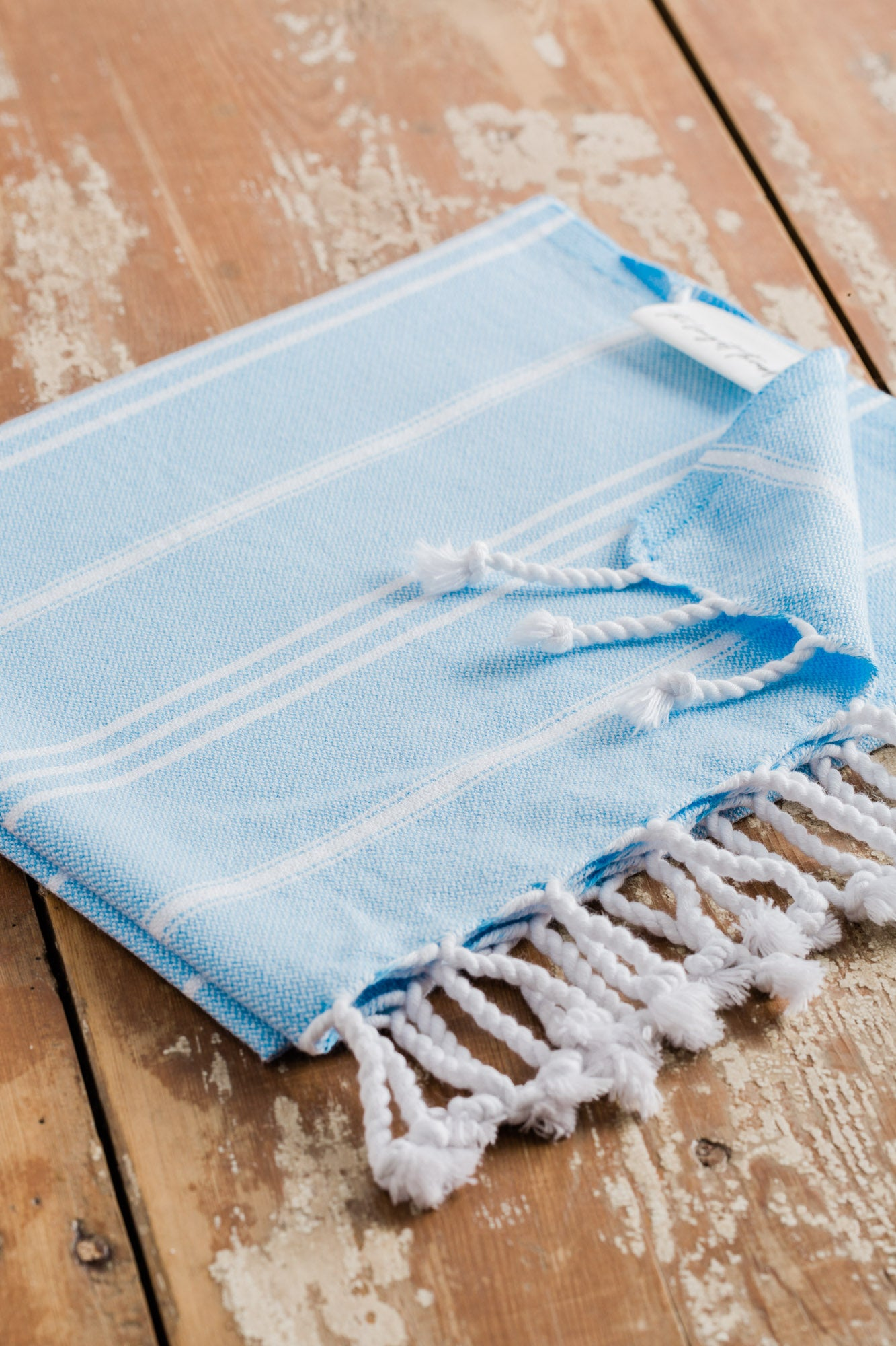 Basic XS Blue Turkish Hand Towel