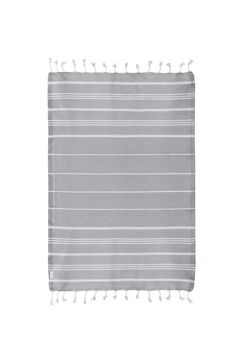 Basic Dark Gray Turkish Hand Towel Image 3