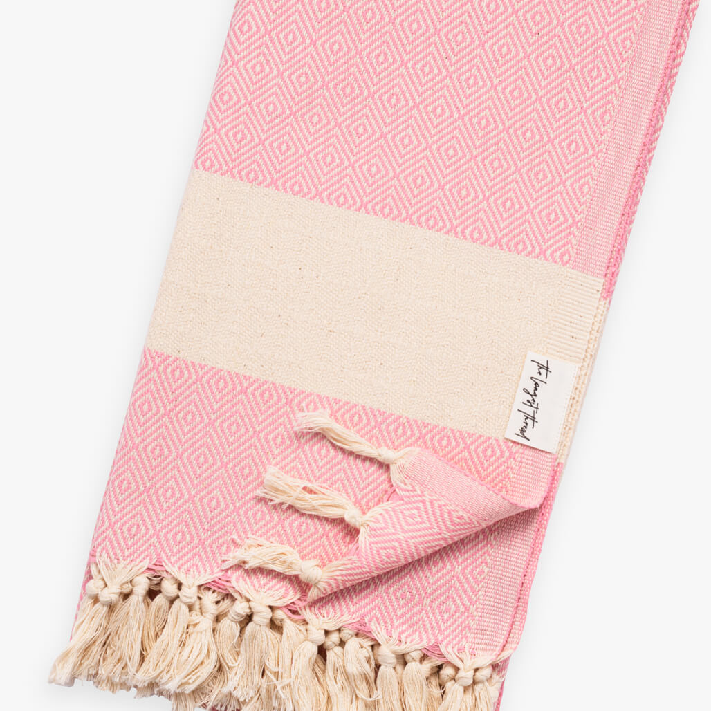 Diamond Pink Turkish Towel