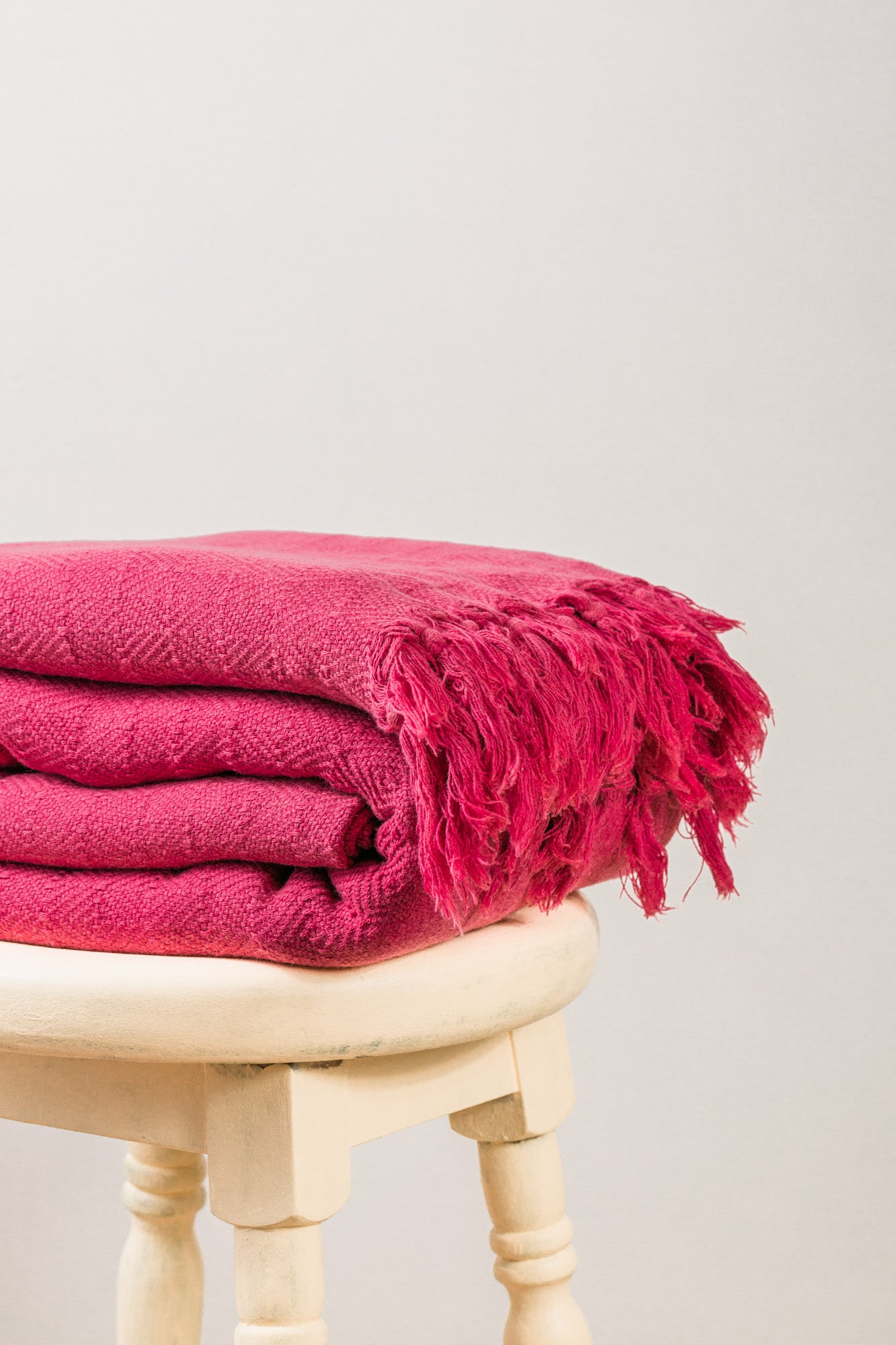 Stone Washed Diamond Red Throw Blanket