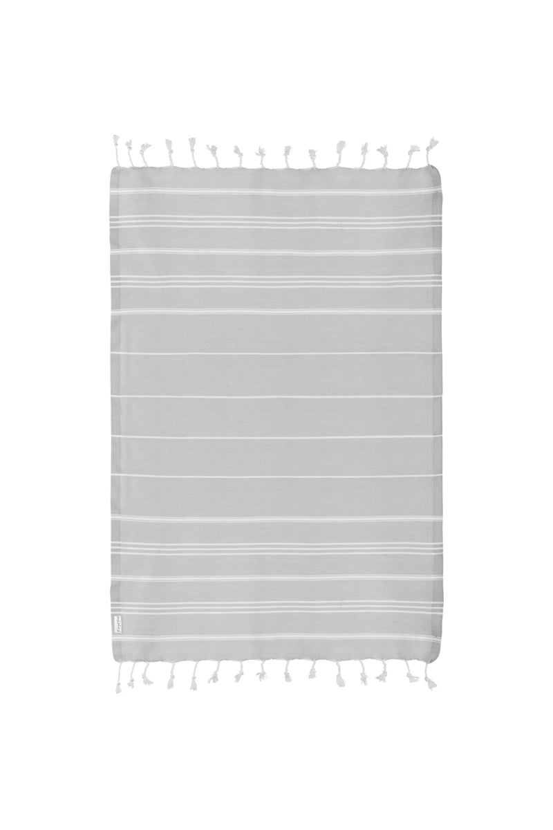 Basic XS Gray Turkish Hand Towel