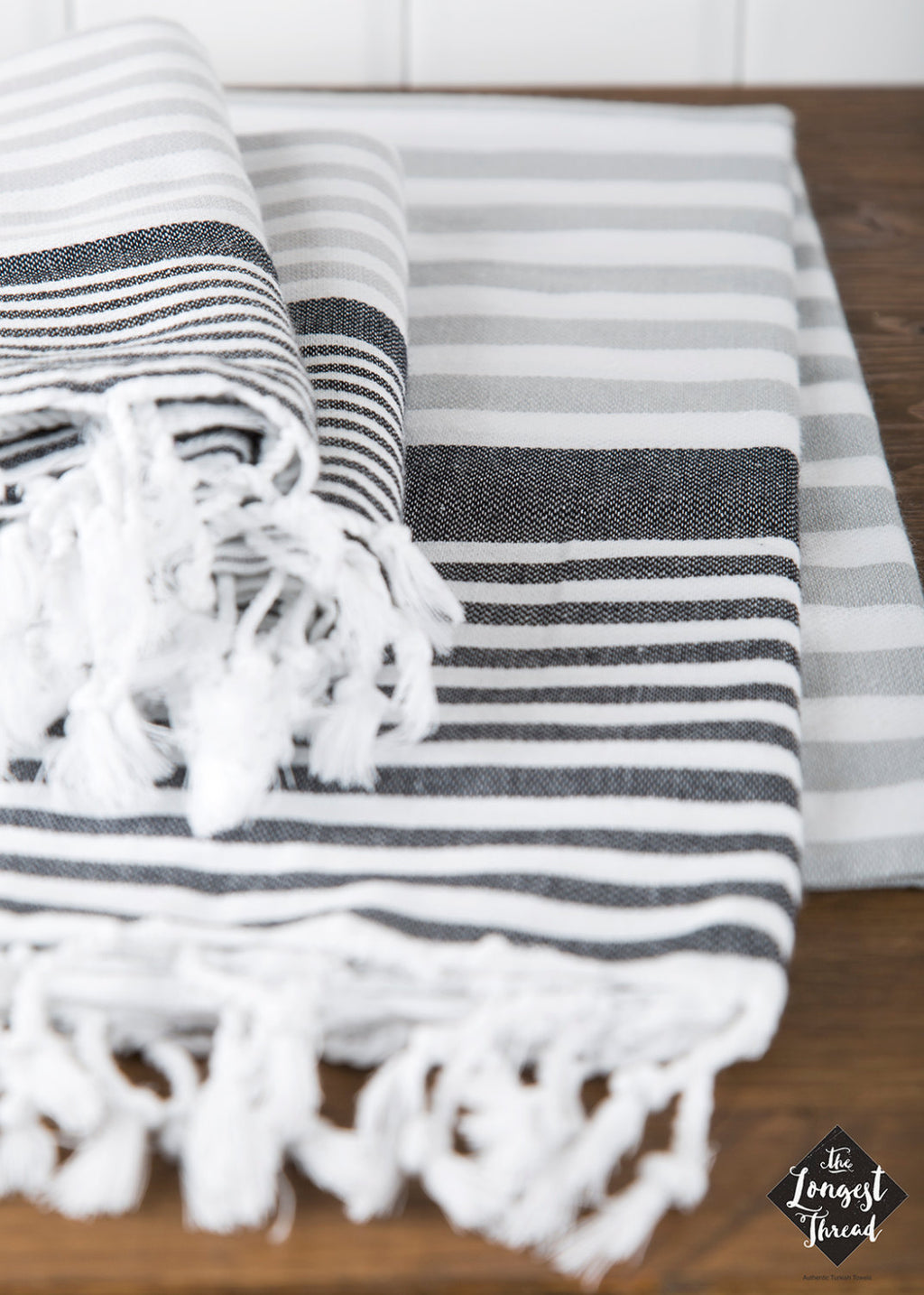 Reef Black/Gray Turkish Towel