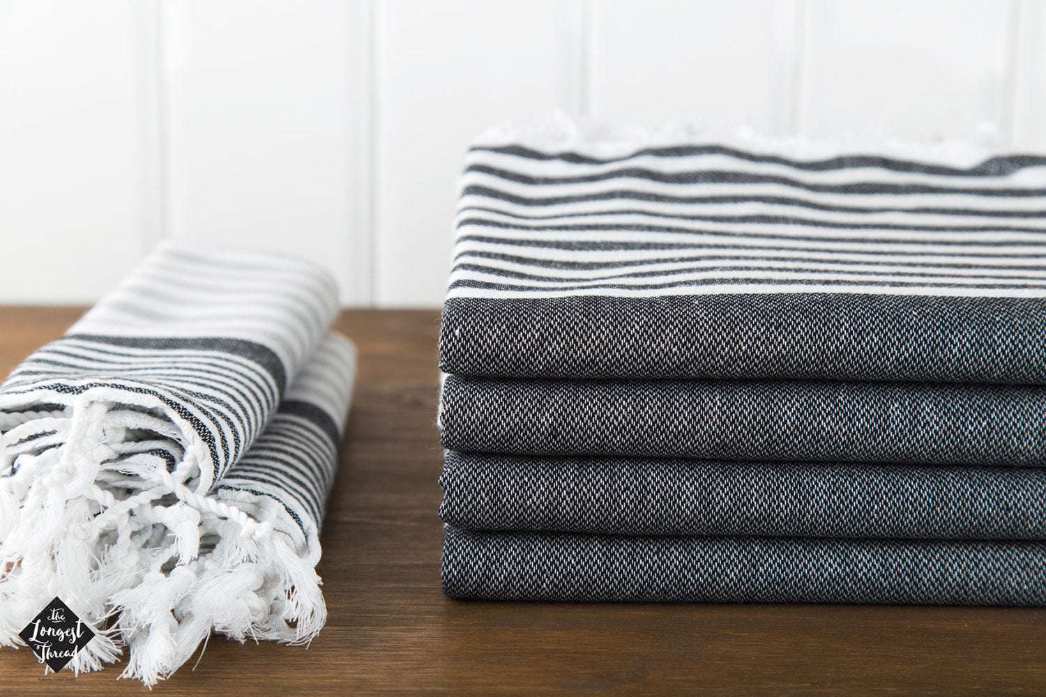 Reef Black/Gray Turkish Towel Image 5