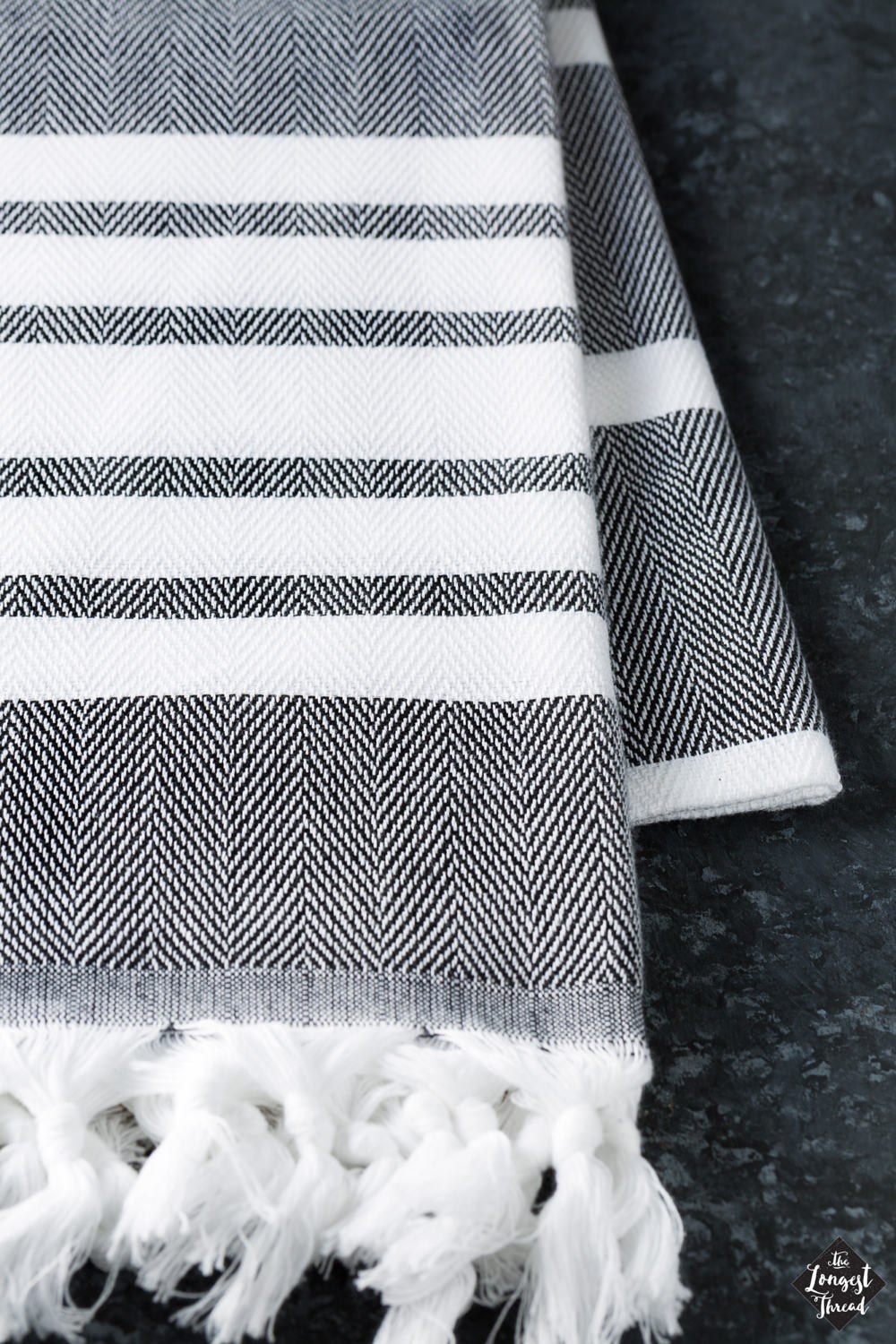 Spa Black Turkish Towel