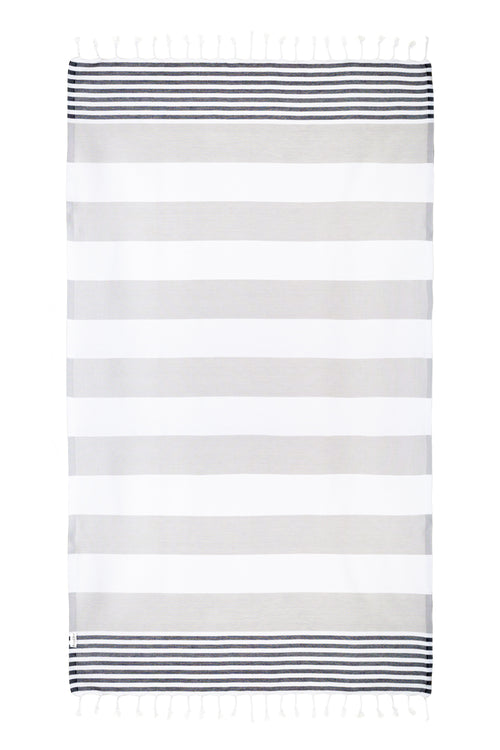 Nautical Black/Gray Turkish Towel