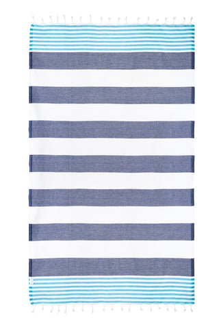 Nautical Navy/Blue Turkish Towel