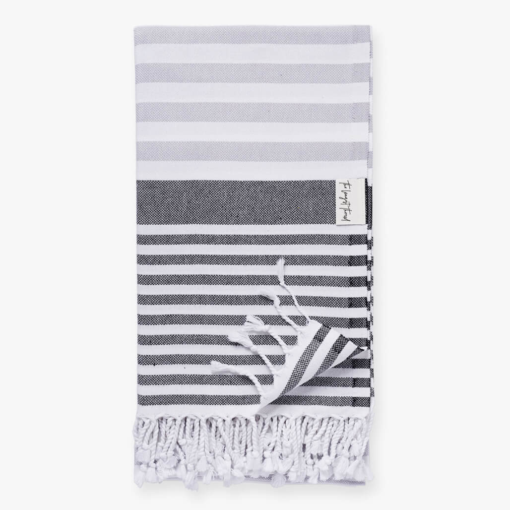 Reef Black/Gray Turkish Towel Image 1