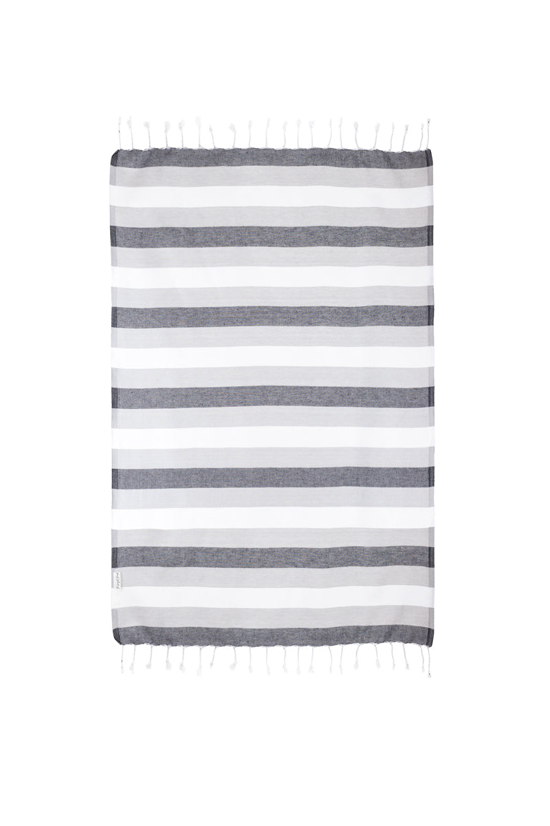 Rugby Black/Gray XS Turkish Hand Towel