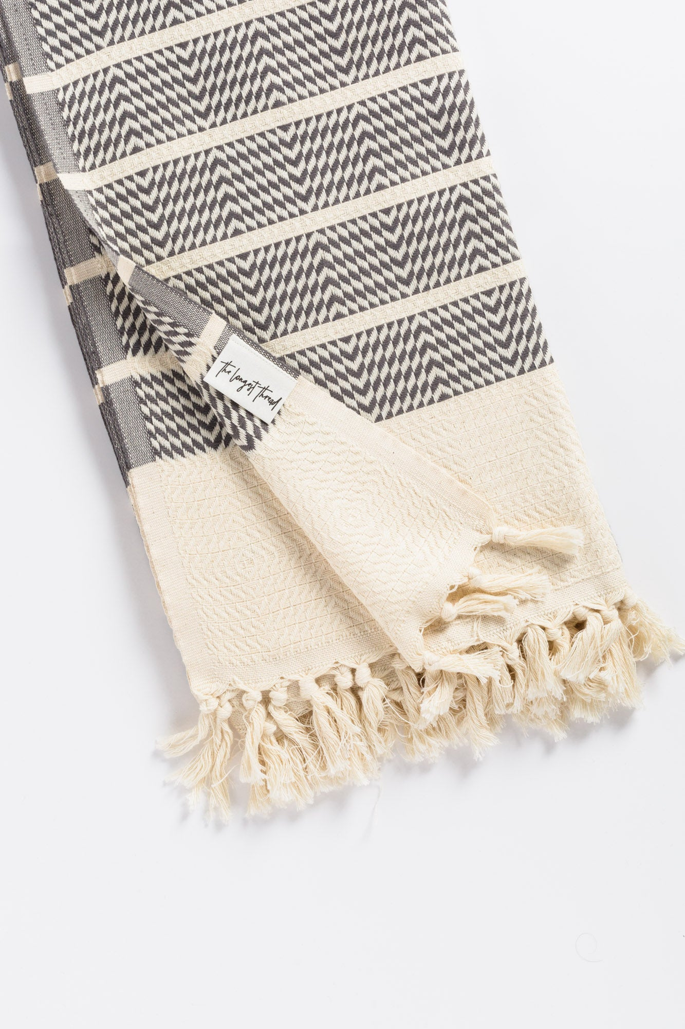Sahara Dark Gray Turkish Towel