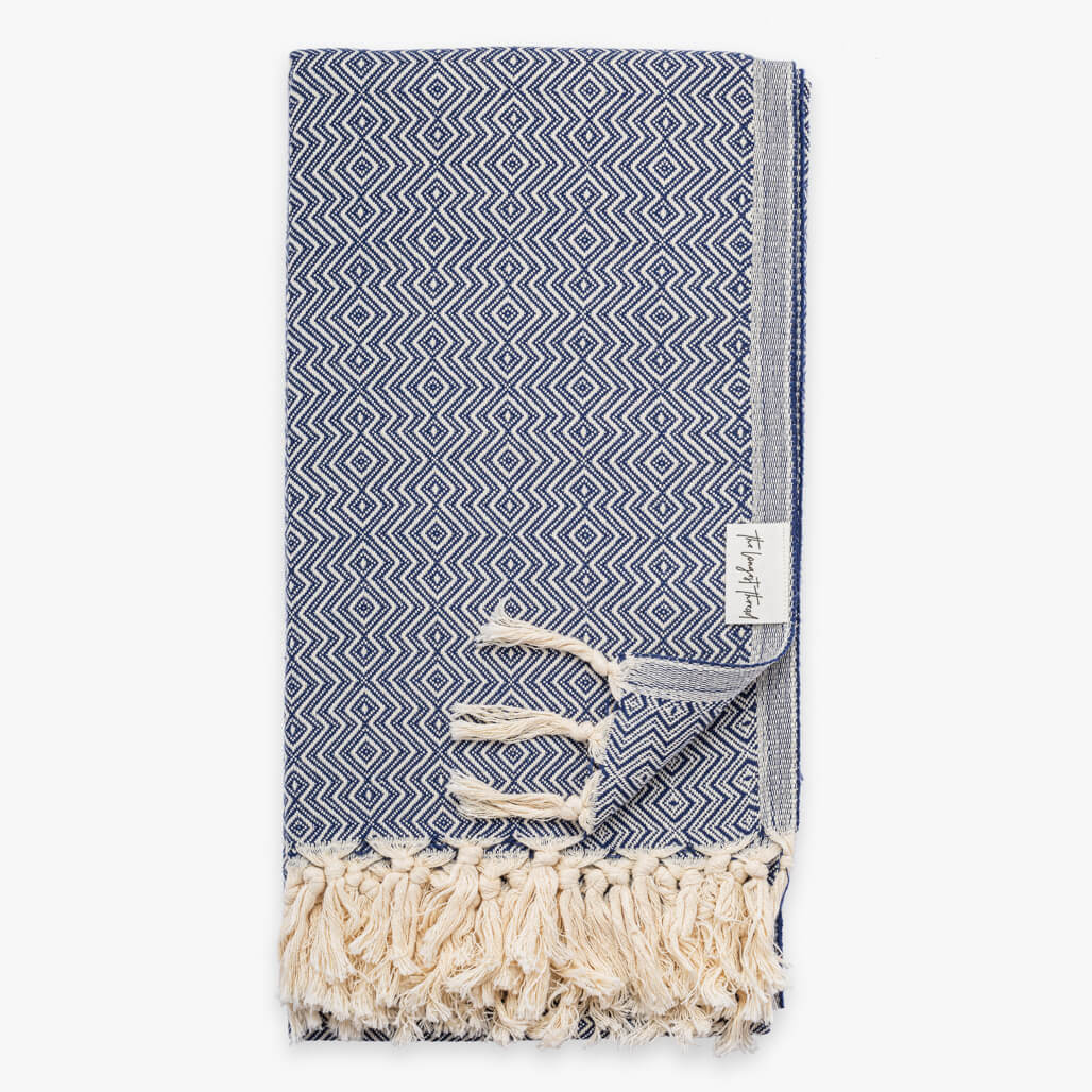 Sahel Navy Turkish Towel Image 1