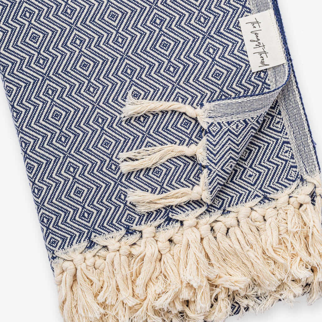 Sahel Navy Turkish Towel Image 3