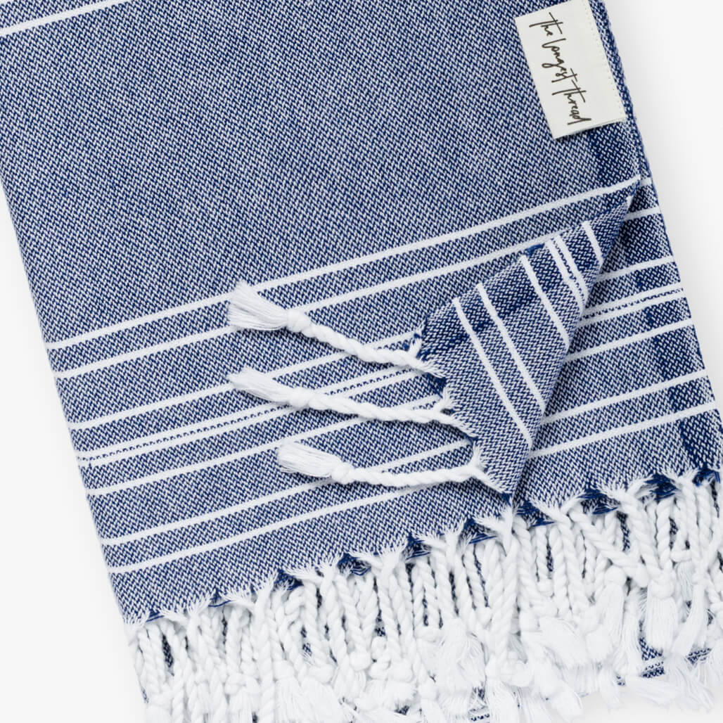 Saltwater Navy Turkish Towel