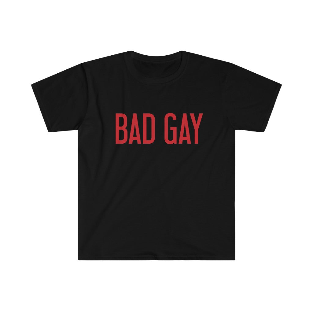 BAD GAY Men's Fitted Short Sleeve Tee