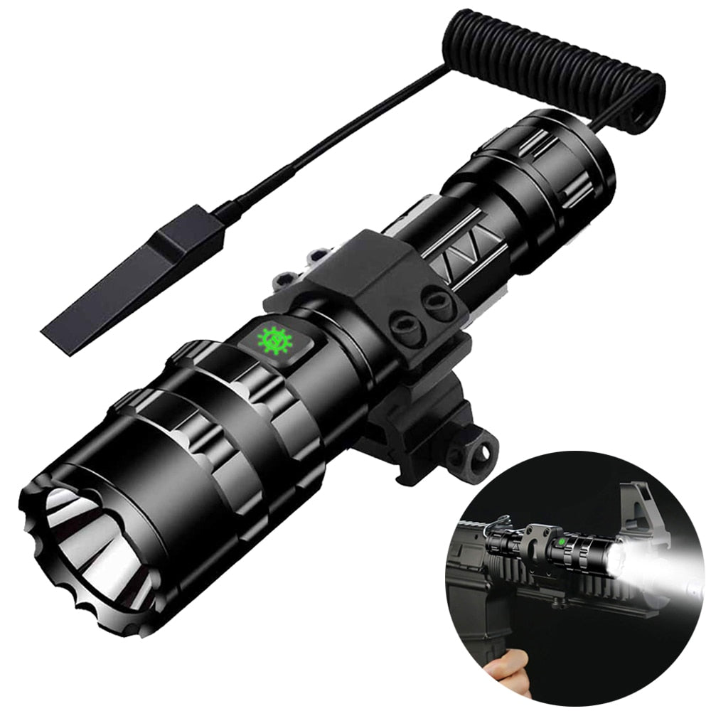Tactical Flashlight 1600 Lumens USB Rechargeable