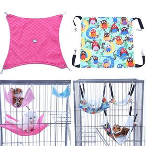 Hamster Chinchilla Embossed Owl Printed Hammock