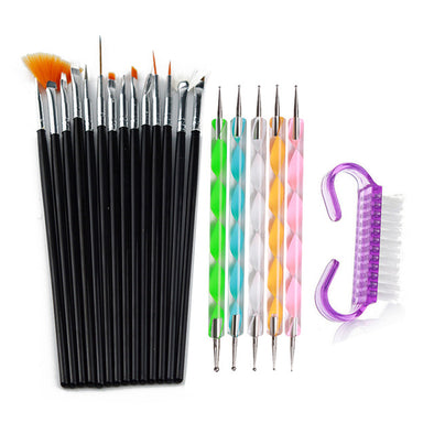 15pcs Acrylic Nail Art Brush Set Basketie