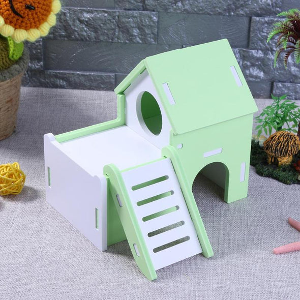 Cute Wood Hamster House