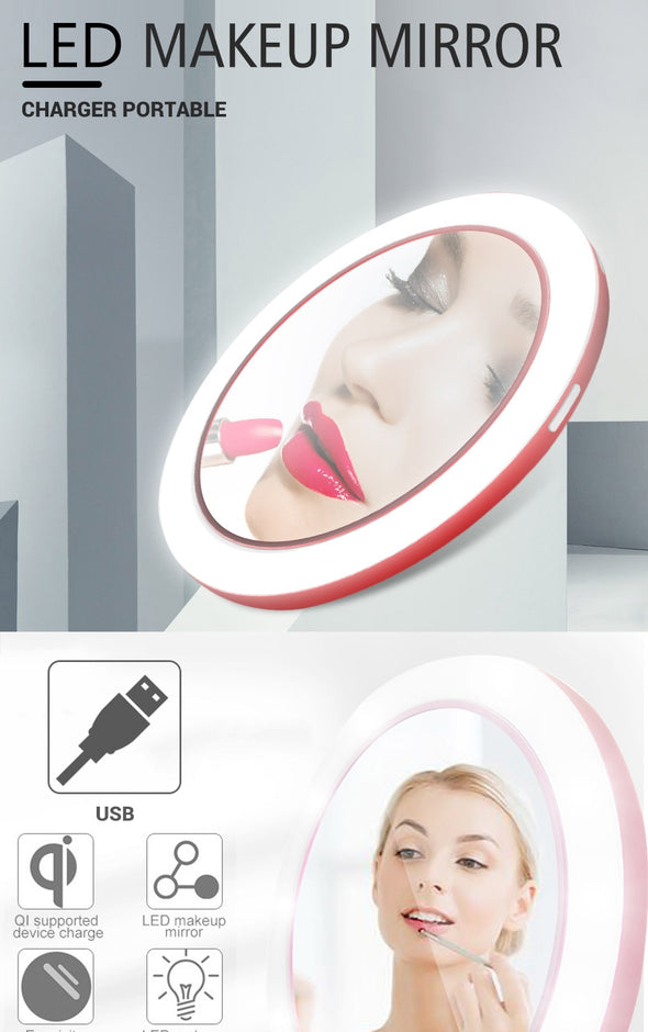 Mini Circular Makeup Mirror Basketie