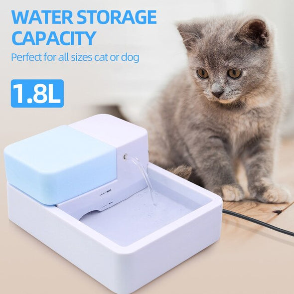 Pet 1.8L LED Pet Drinking Fountain