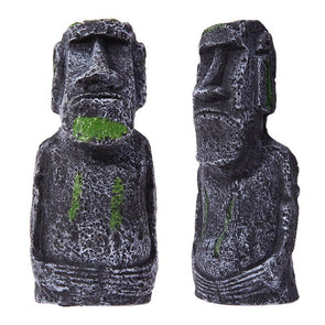 Resin Artificial Aquarium Easter Island Statue