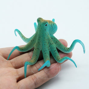 Fluorescent Artificial Octopus Aquarium Ornament