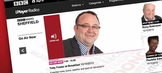 Listen to Matt live on BBC Radio Sheffield