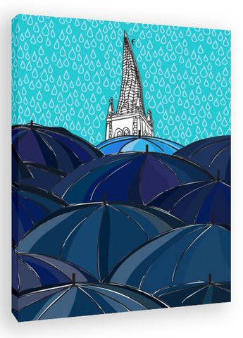 Chesterfield - Another Rainy Day in Ches Canvas