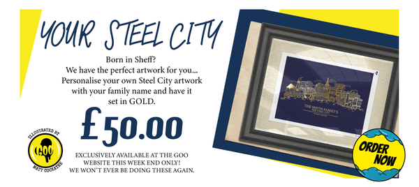 YOUR STEEL CITY GOLD FOIL BLOCKED ART