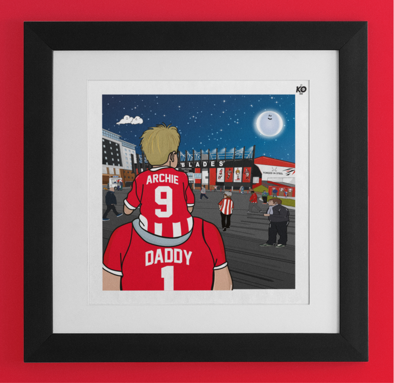 SUFC Dad & Lad – personalised print