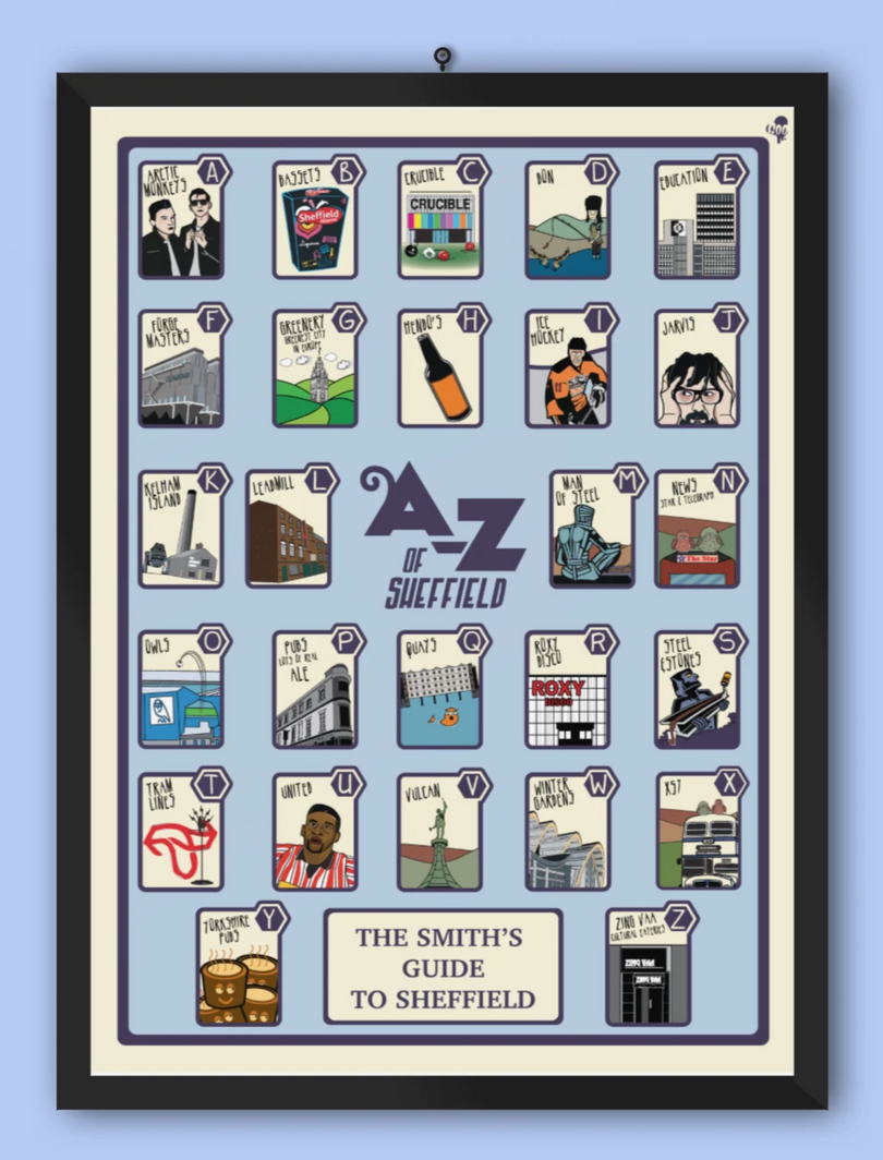 A-Z of Sheffield Special edition print