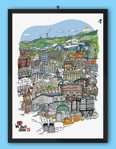 We Love Sheff - Personalised Artwork