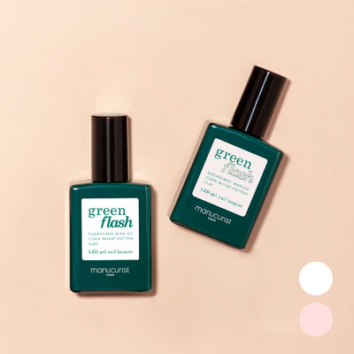 Green Flash French Manicure Duo - Snow & Hortencia