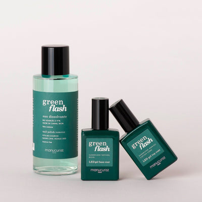 Trio Base Top Dissolvant Green Flash