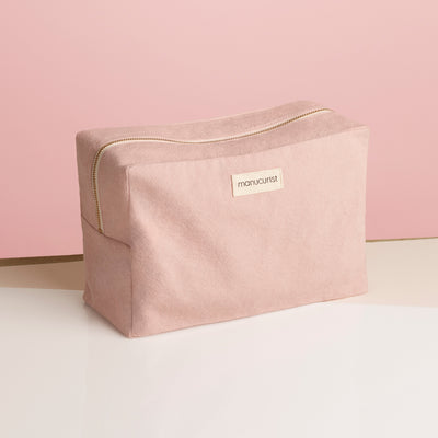 Trousse upcyclée rose - Grand format