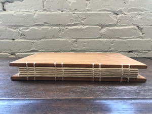 Honey Locust Matched Book Cover with Thistle/Abaca Paper
