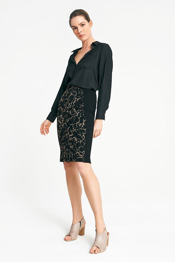 Layerd | Ponte Spliced Skirt - Presence Womens Clothing Store Hamilton