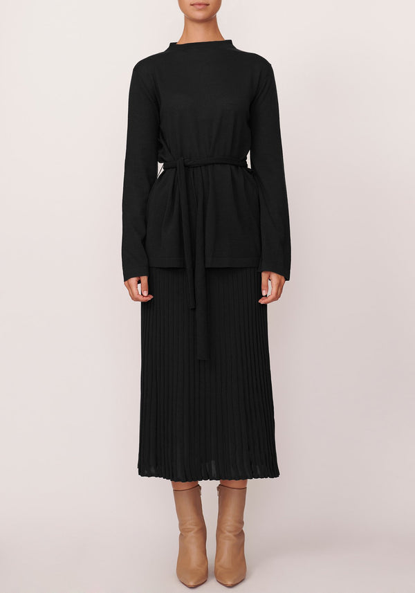 POL | Scoop Ribbed Skirt - Presence Womens Clothing Store Hamilton
