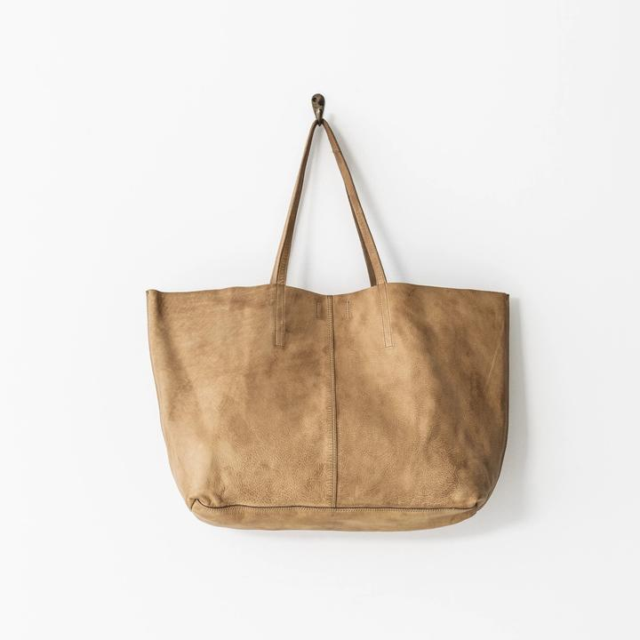 Juju & Co | Unlined Leather Tote - Presence Womens Clothing Store Hamilton
