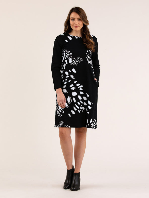 Yarra Trail | Falling Leaves Dress - Presence Womens Clothing Store Hamilton