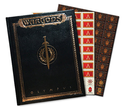 WG-04 WarGods of Olympus Collector's Edition Leatherette Rulebook