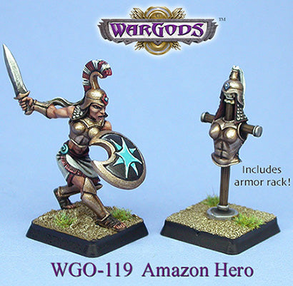 WGO-119 Olympus - Amazons - Hero and Armour Rack
