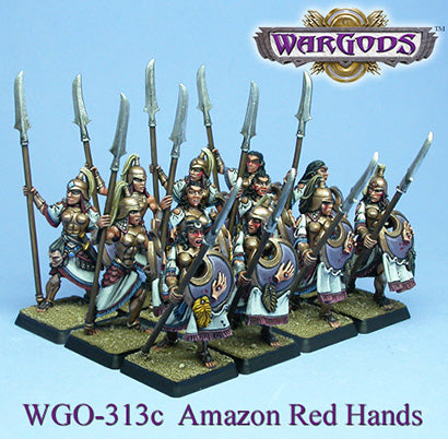WGO-313c - Olympus - Amazons - Hoplite Unit Red Hands