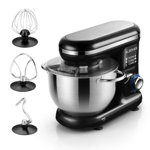 600W 5L Stainless Steel Bowl 6-speed Kitchen Food Stand Mixer Cream Egg Whisk Blender Cake Dough Bread Mixer Maker Machine
