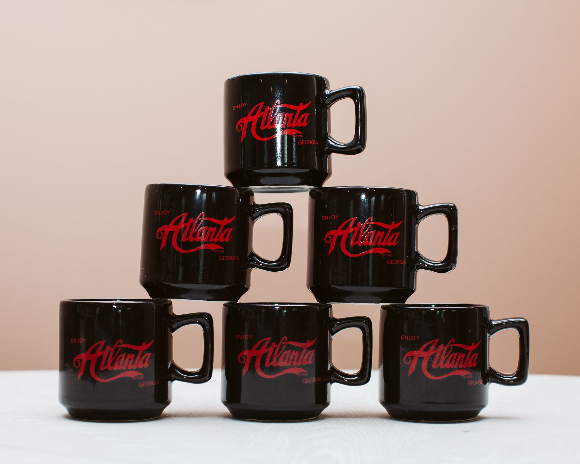 Vintage 'Atlanta' Mug - Portrait Coffee